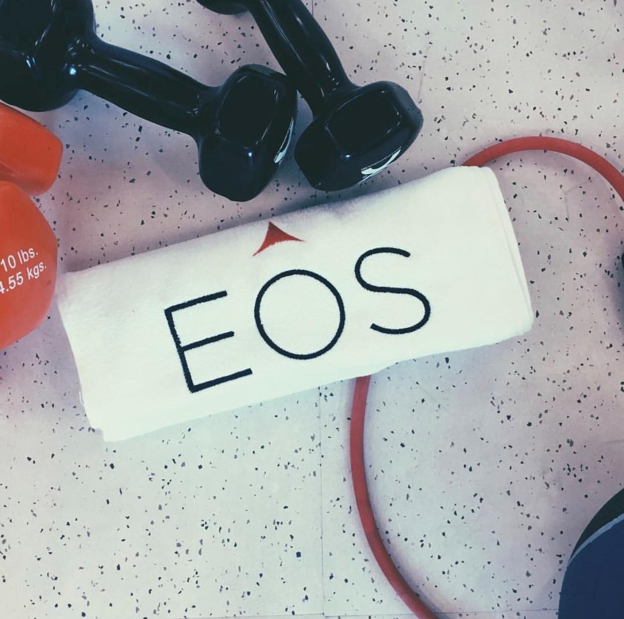 EOS branded towels