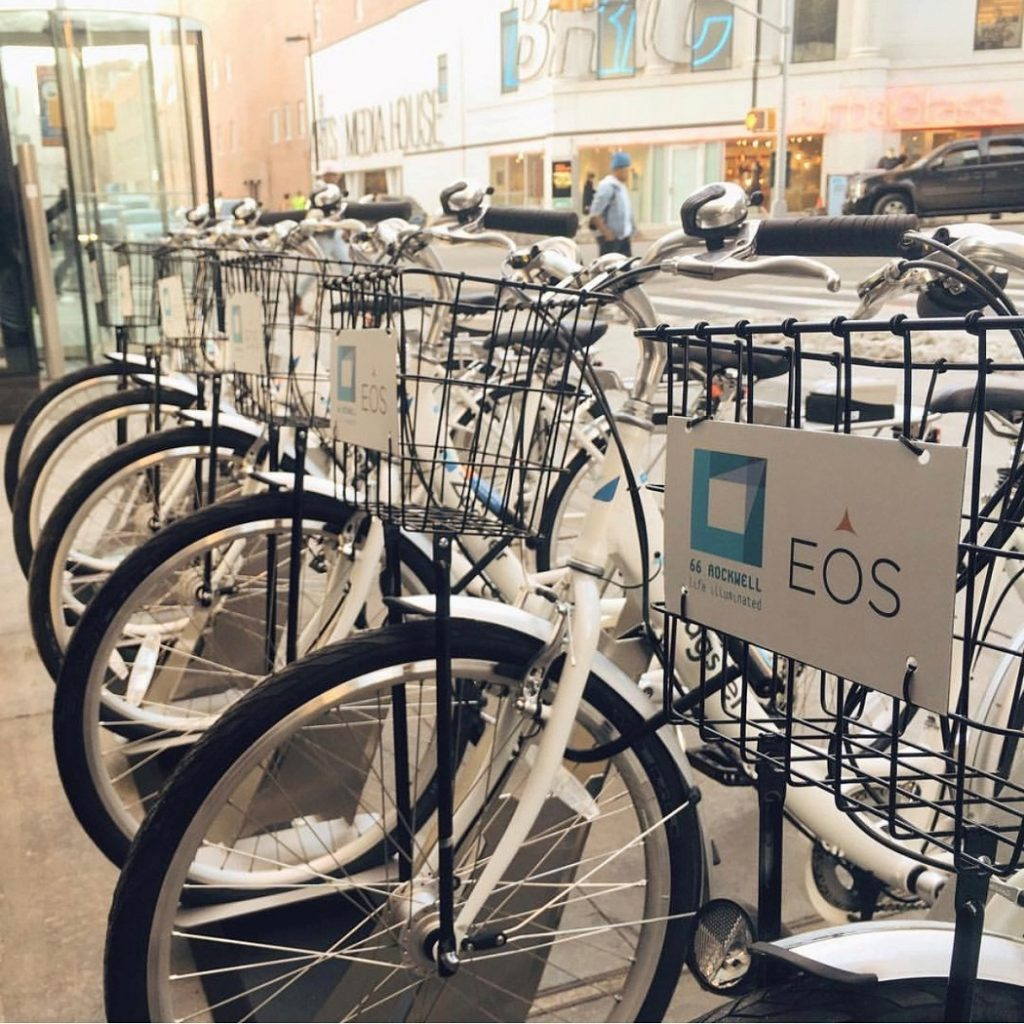 EOS branded bicycles