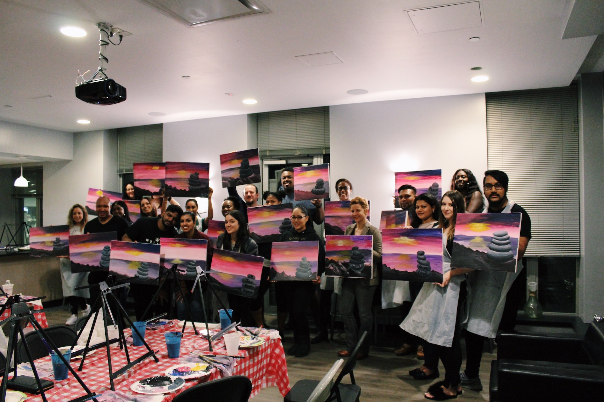 Group of residents paintings